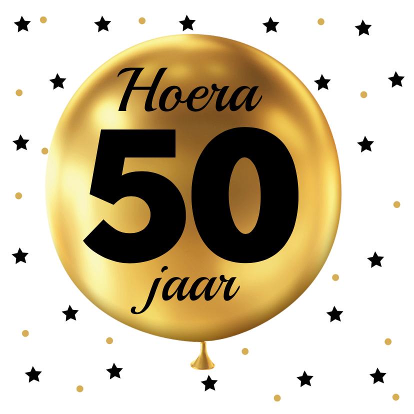 Felicitatiekaarten - Felicitatie 50 jaar Ballon goud