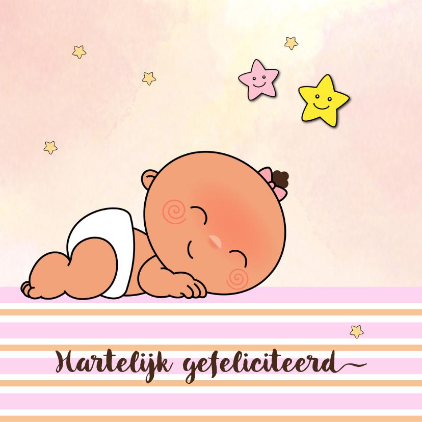 Felicitatiekaarten - Felicitatie adoptiekindje-meisje