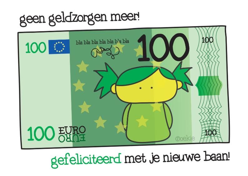 Felicitatiekaarten - Felicitatie Baan Geld