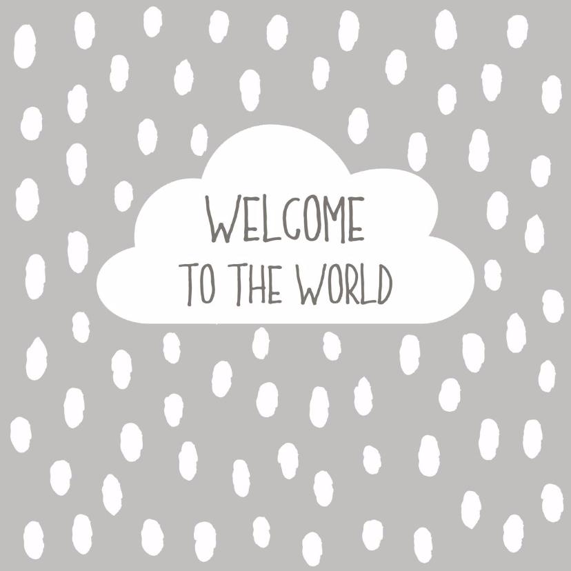 Felicitatiekaarten - Felicitatie baby Wolk - WW