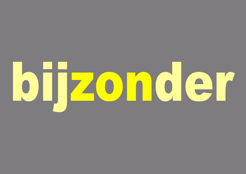 Felicitatiekaarten - Felicitatie BijZONder Grijs - AW