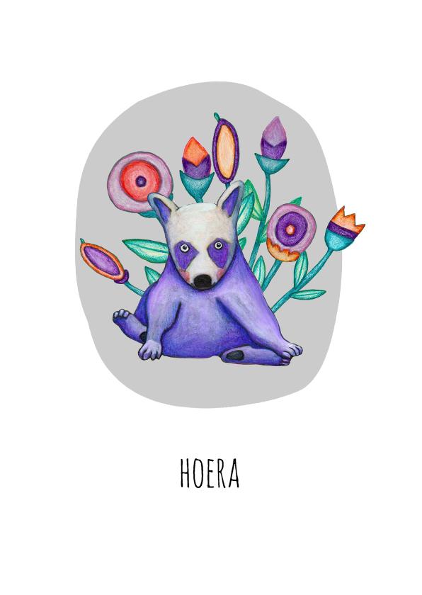 Felicitatiekaarten - Felicitatie bloemen hoera - KK