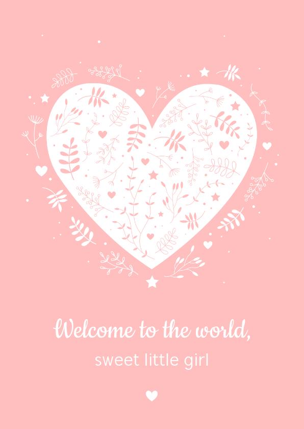 Felicitatiekaarten - Felicitatie - Botanisch hart