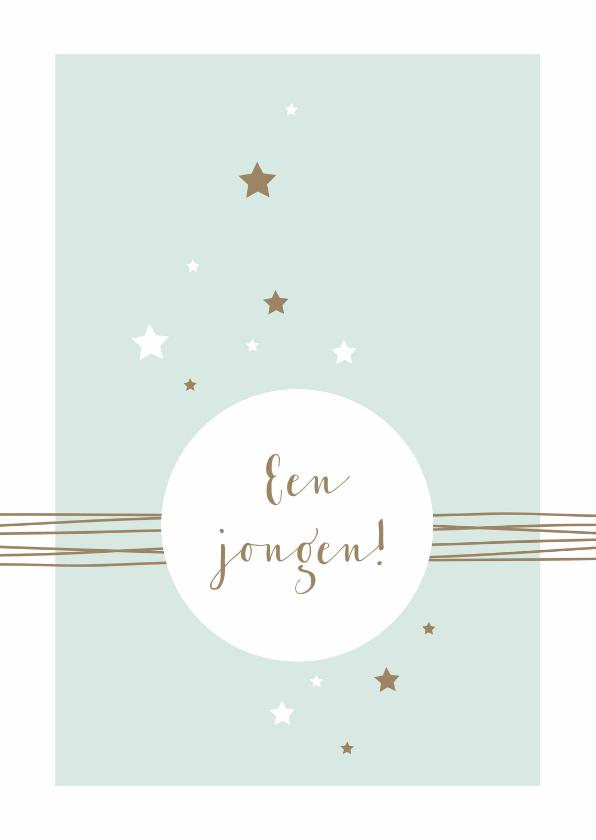Felicitatiekaarten - Felicitatie - Cirkel, lijnen en sterren