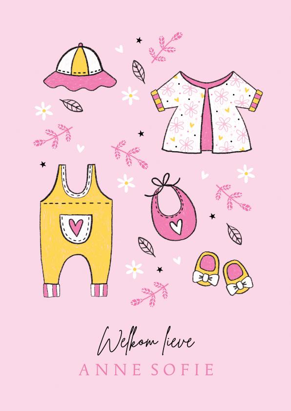 Felicitatiekaarten - Felicitatie dochter babykleertjes