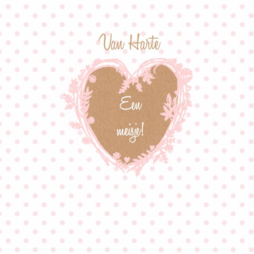 Felicitatiekaarten - Felicitatie dochter hart craft
