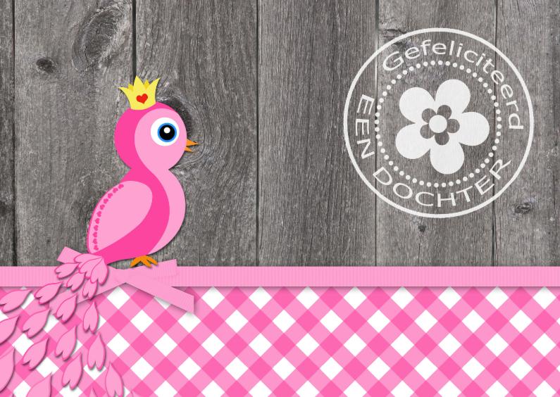 Felicitatiekaarten - Felicitatie dochter pauw