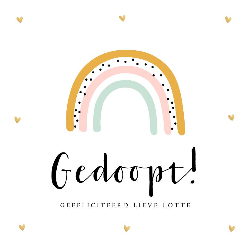 Felicitatiekaarten - Felicitatie doopsel meisje regenboog