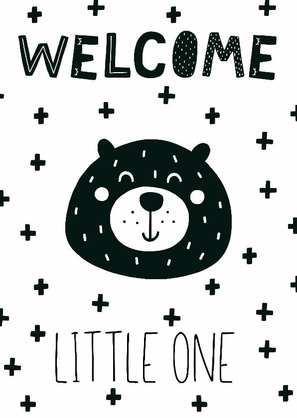 Felicitatiekaarten - Felicitatie geboorte beer welcome little one