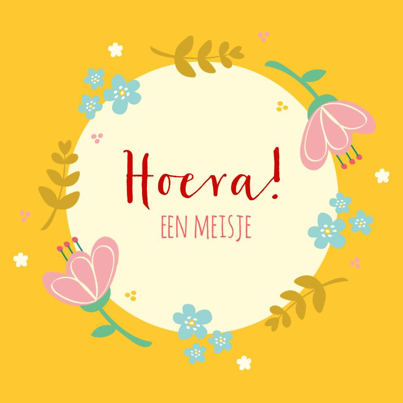 Felicitatiekaarten - Felicitatie geboorte bloemen