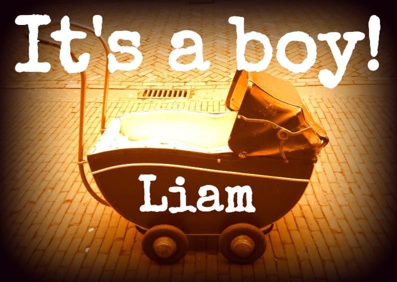 Felicitatiekaarten - Felicitatie geboorte boy IW