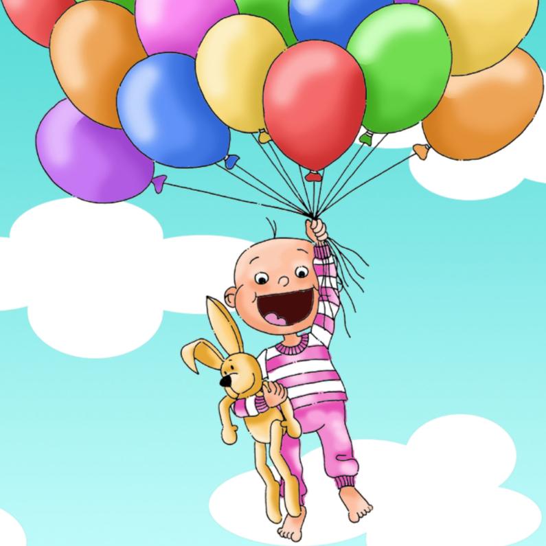 Felicitatiekaarten - Felicitatie geboorte dochter ballonnen