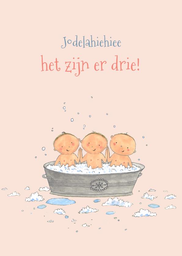 Felicitatiekaarten - Felicitatie geboorte drieling