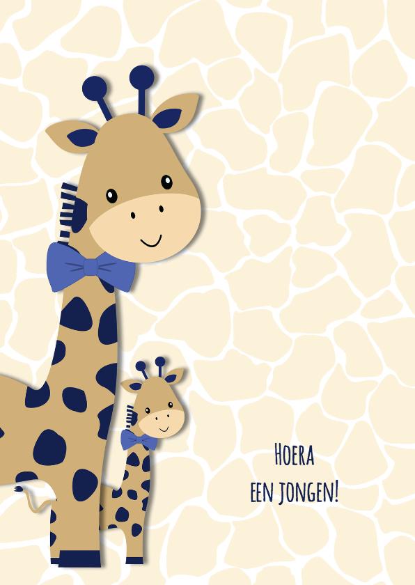 Felicitatiekaarten - Felicitatie geboorte giraf