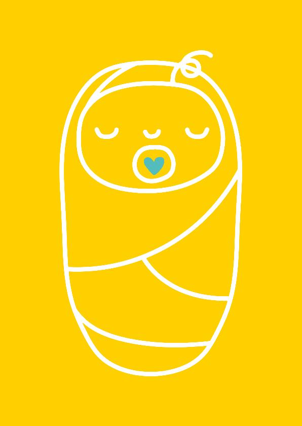 Felicitatiekaarten - Felicitatie geboorte ingebakerde baby