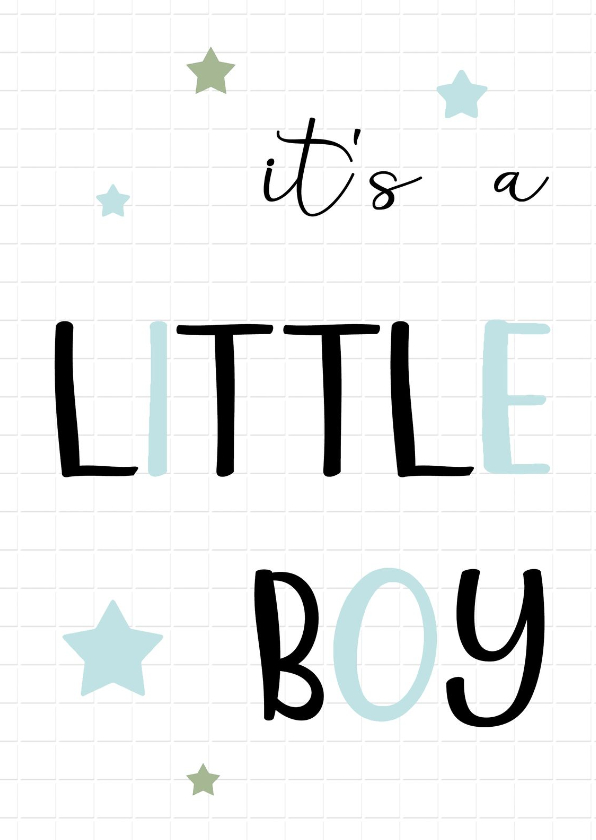 Felicitatiekaarten - Felicitatie Geboorte little boy