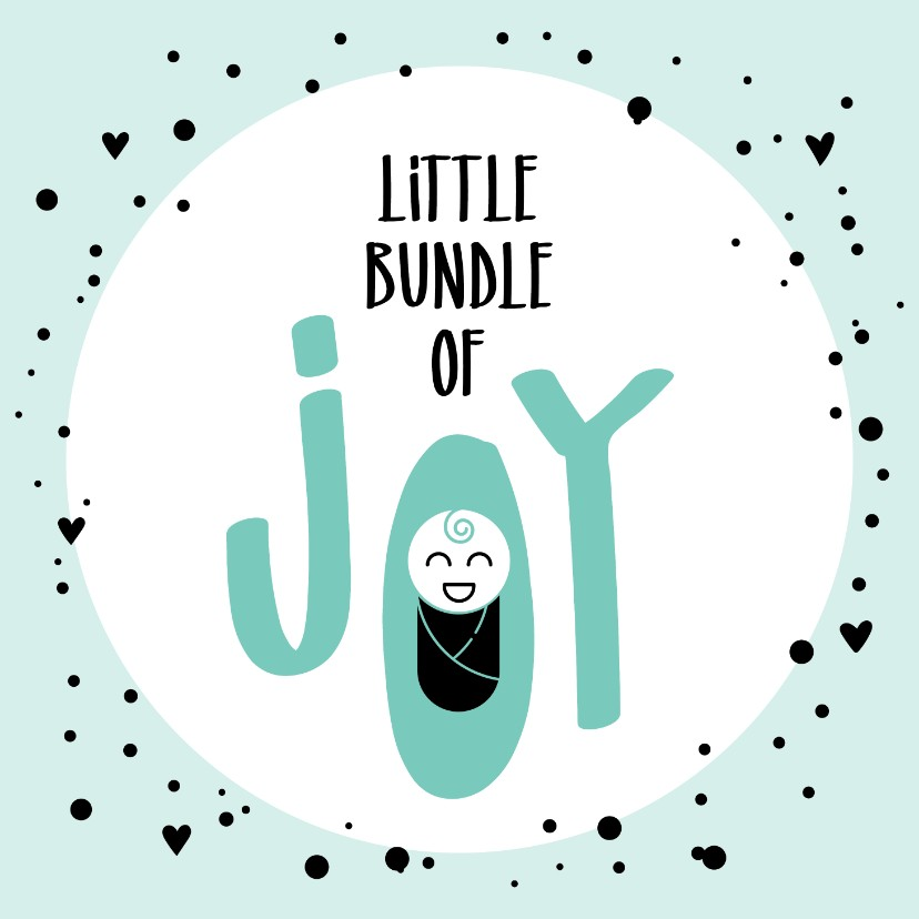 Felicitatiekaarten - Felicitatie geboorte Little bundle of joy