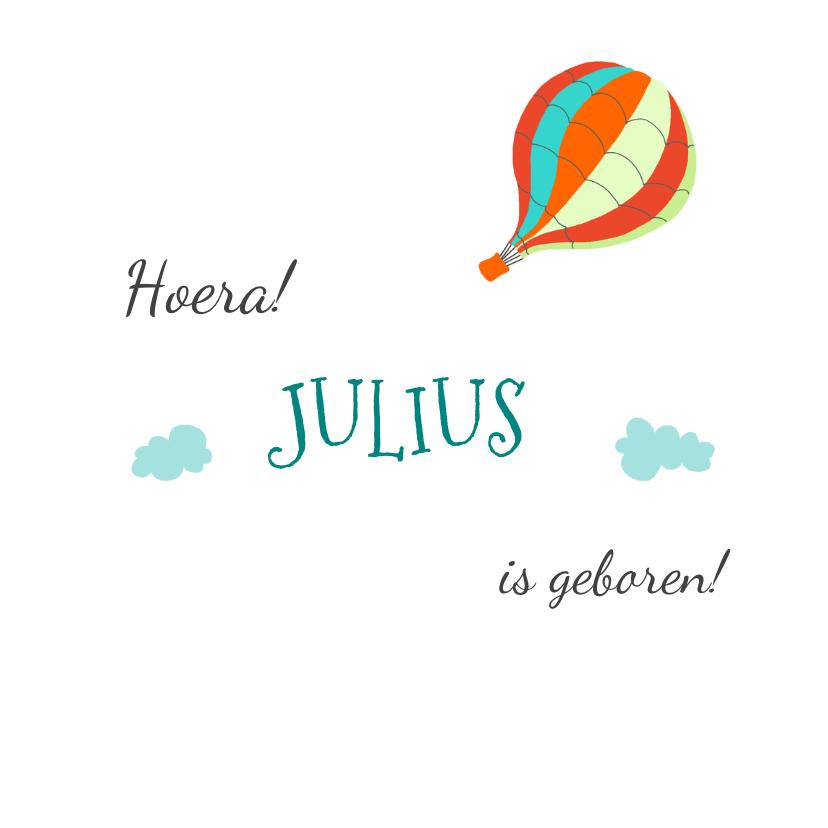 Felicitatiekaarten - Felicitatie geboorte luchtballon