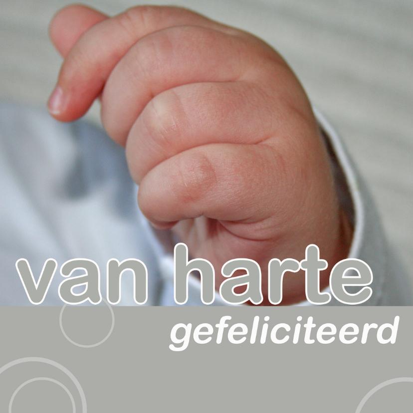 Felicitatiekaarten - felicitatie geboorte met babyhandje