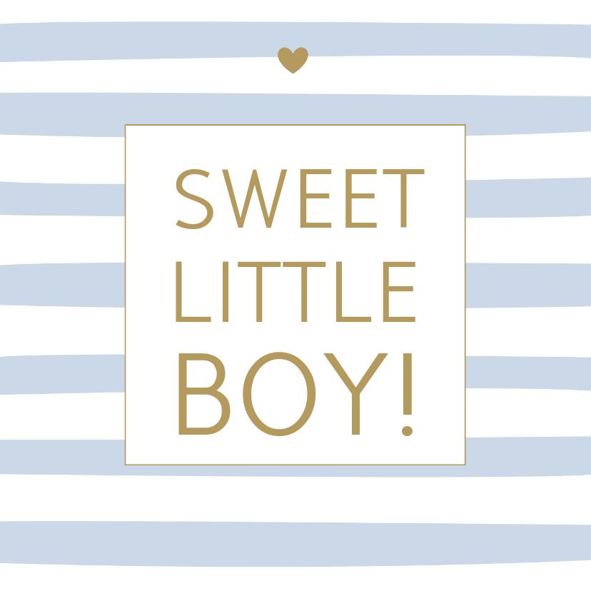 Felicitatiekaarten - Felicitatie geboorte - Strepen blauw