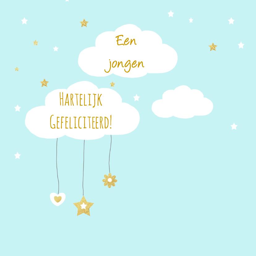 Felicitatiekaarten - Felicitatie geboorte wolkjes