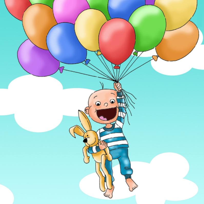 Felicitatiekaarten - Felicitatie geboorte zoon ballonnen