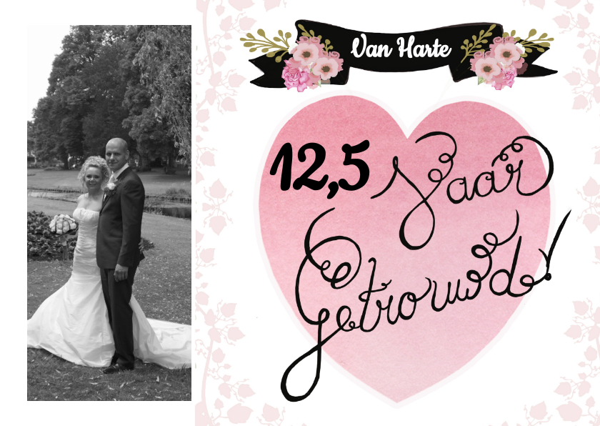 Felicitatiekaarten - Felicitatie getrouwd jubileum