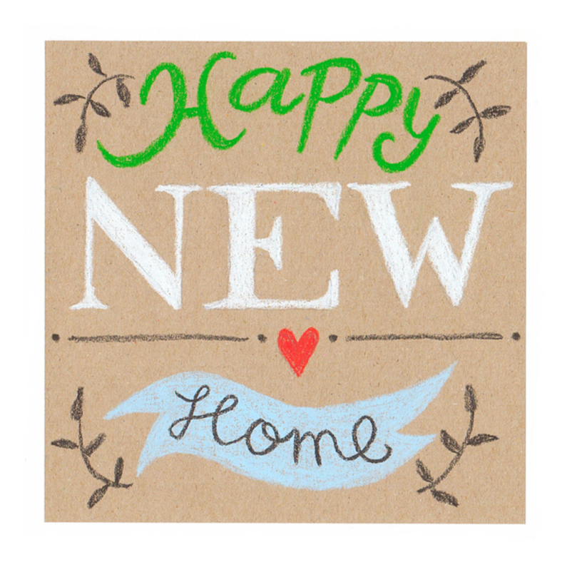 Felicitatiekaarten - Felicitatie, Happy new home
