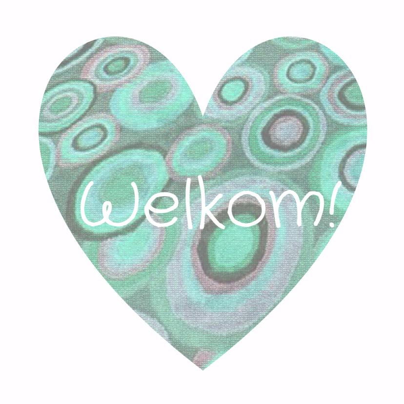Felicitatiekaarten - Felicitatie hart  Welkom - AW
