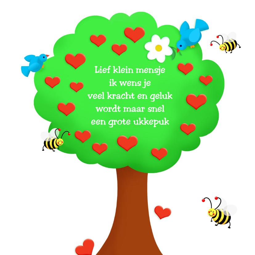 Felicitatiekaarten - Felicitatie Hartenboompje