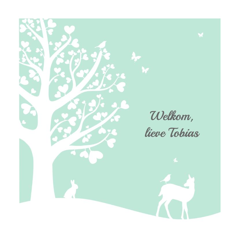 Felicitatiekaarten - Felicitatie - Hartjesboom zoon
