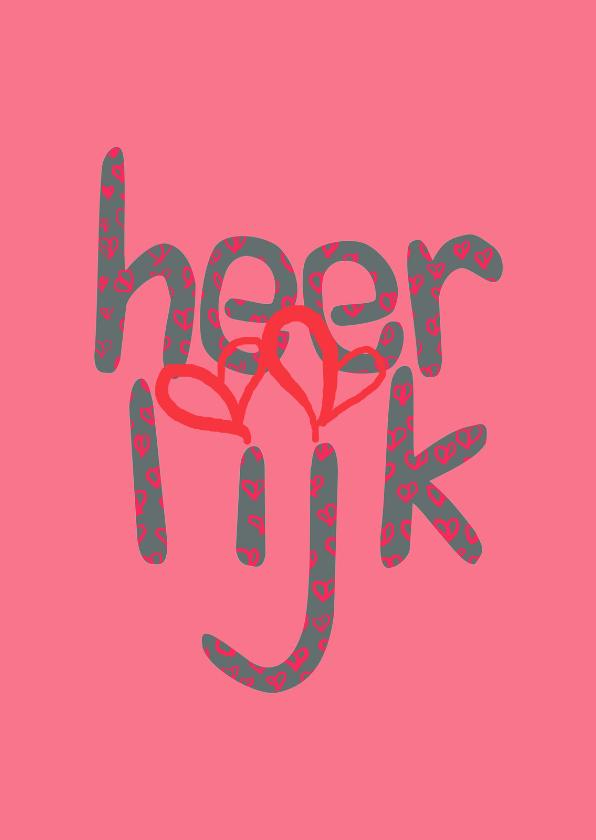 Felicitatiekaarten - Felicitatie Heerlijk roze - AW
