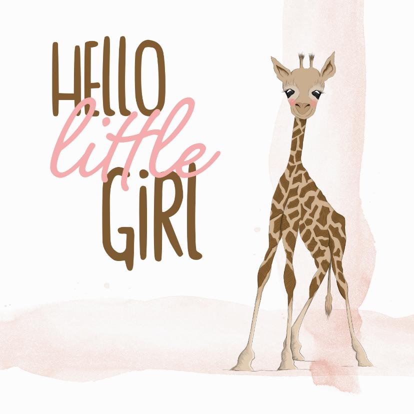 Felicitatiekaarten - Felicitatie - hello little girl giraf