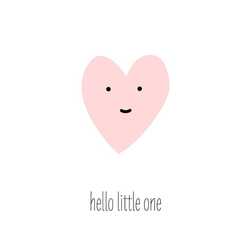 Felicitatiekaarten - Felicitatie - hello little girl hartje