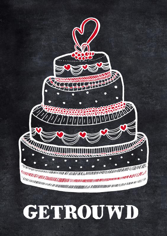 Felicitatiekaarten - Felicitatie huwelijk bruidstaart