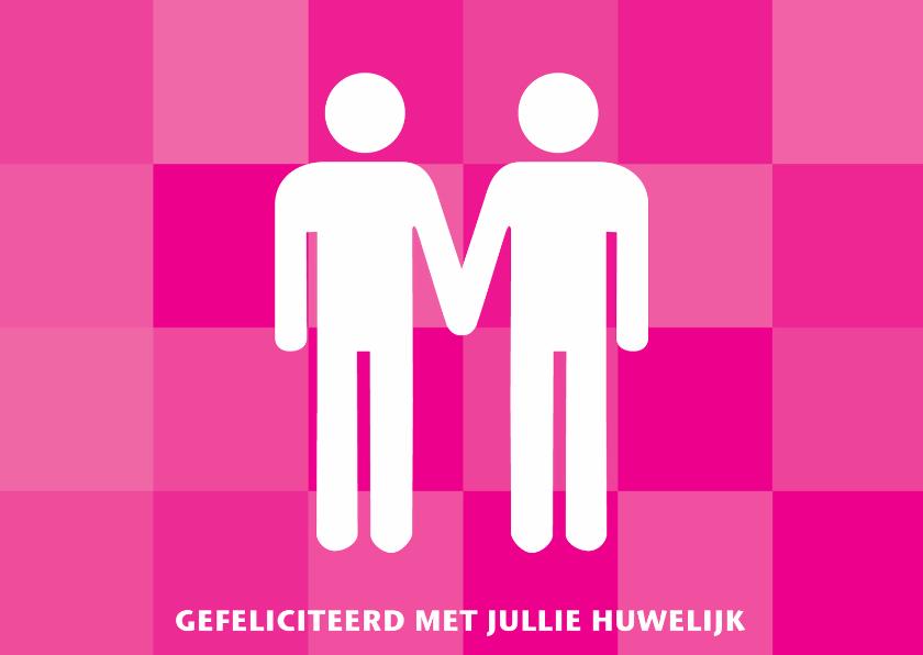 Felicitatiekaarten - Felicitatie huwelijk homobruidspaar