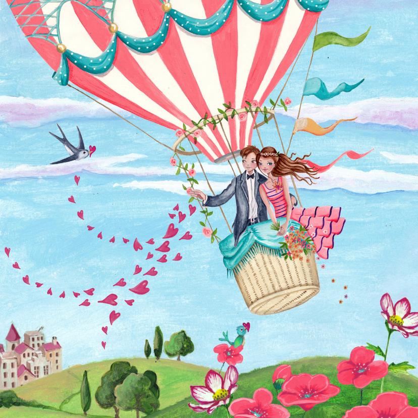 Felicitatiekaarten - Felicitatie huwelijk Luchtballon