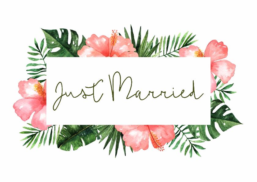 Felicitatiekaarten - Felicitatie huwelijk Tropical - WW