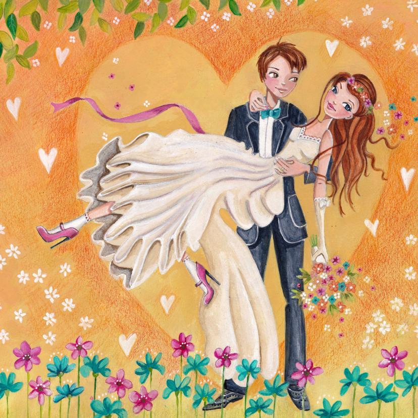 Felicitatiekaarten - Felicitatie Huwelijk Trouwen