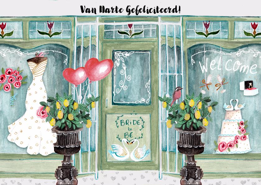 Felicitatiekaarten - Felicitatie Huwelijk Winkel Zwanen & Citroenen