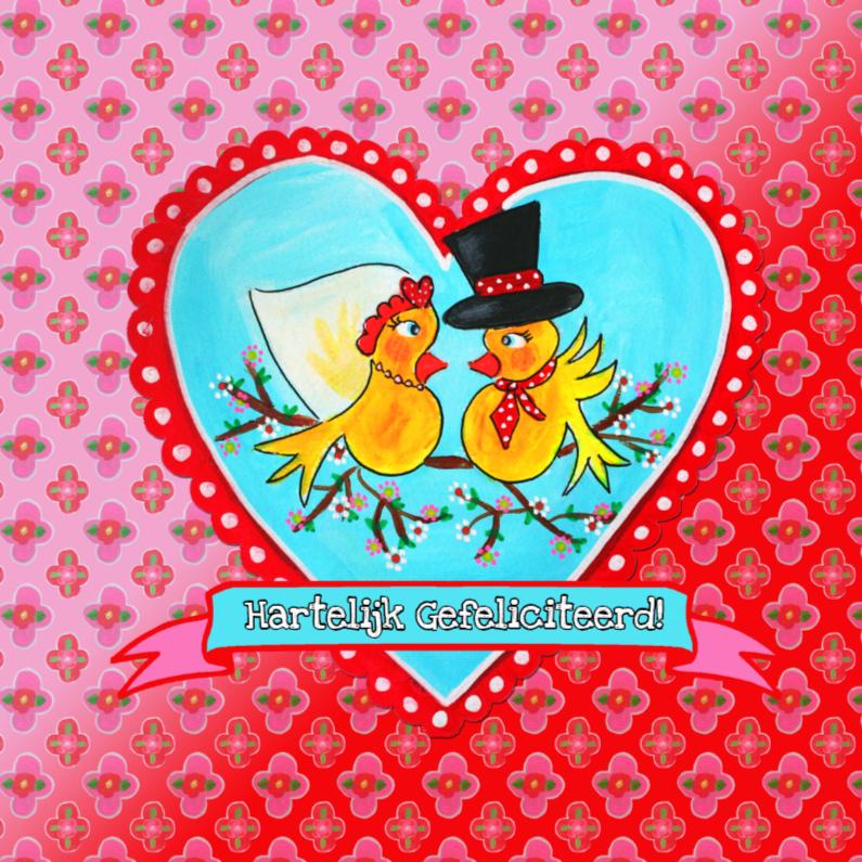 Felicitatiekaarten - Felicitatie Huwelijkshart  PA