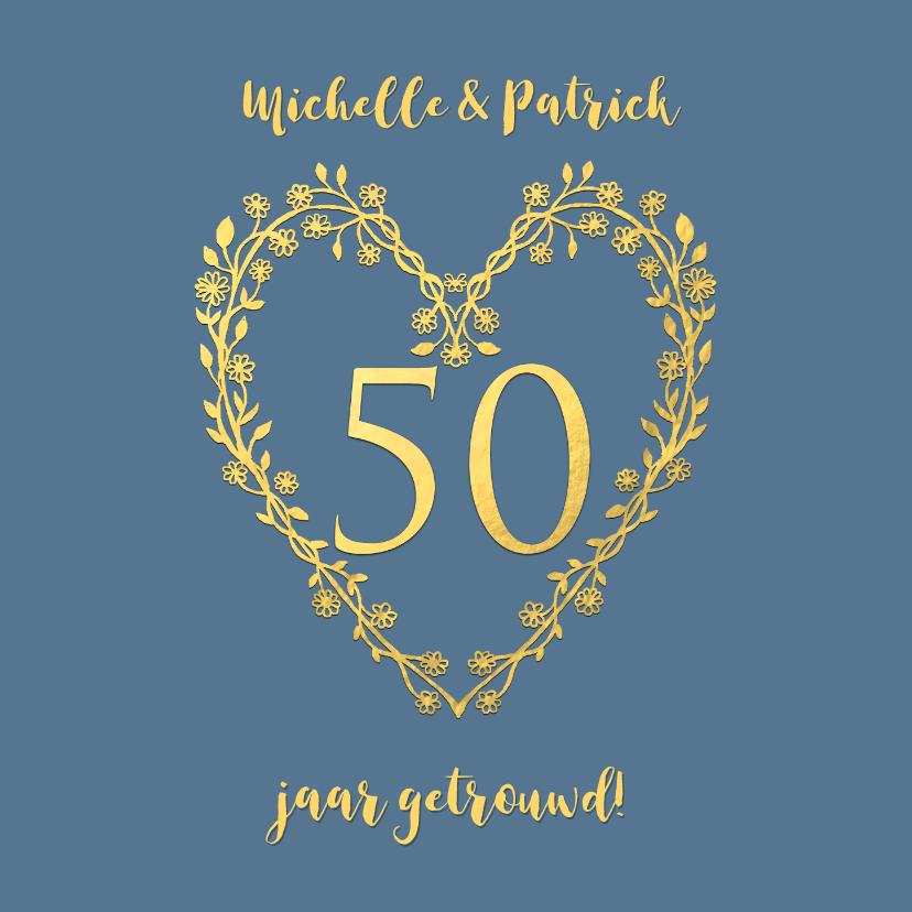 Felicitatiekaarten - Felicitatie huwelijksjubileum goud