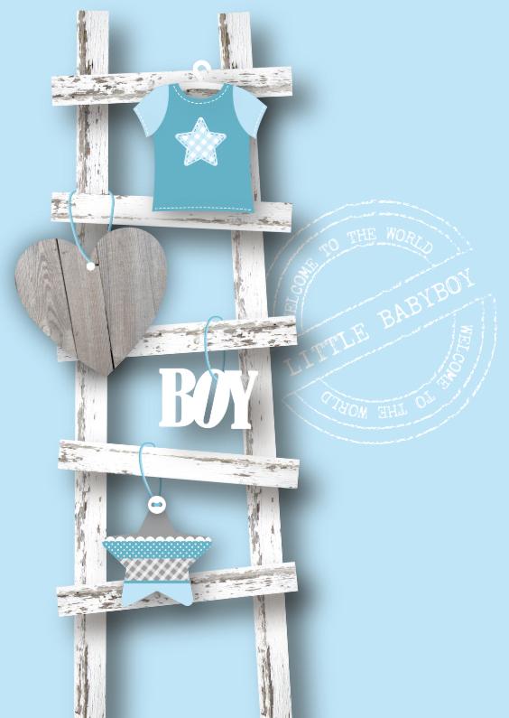 Felicitatiekaarten - Felicitatie Jongen Ladder