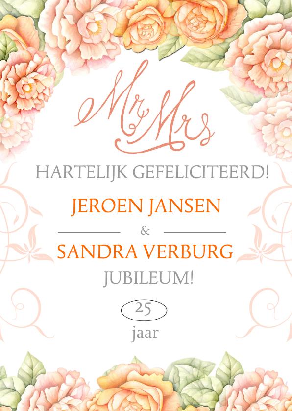 Felicitatiekaarten - Felicitatie jubileum rozen tekst
