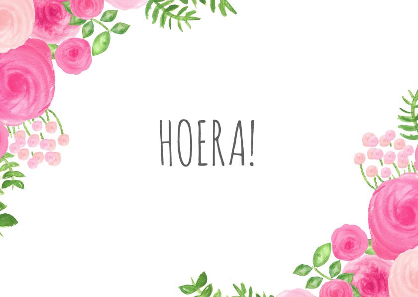 Felicitatiekaarten - Felicitatie kaart bloemen - SU