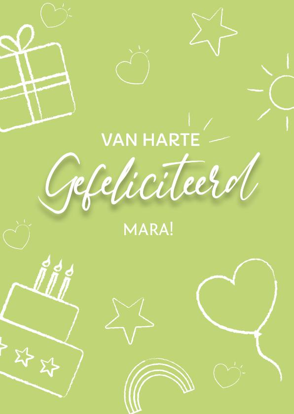 Felicitatiekaarten - Felicitatie kaart groen