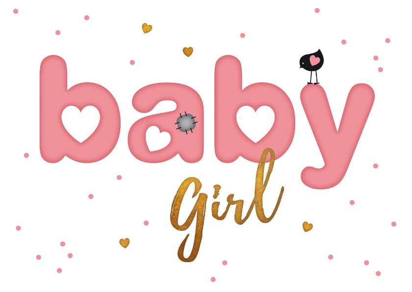 Felicitatiekaarten - Felicitatie letter kaart baby girl