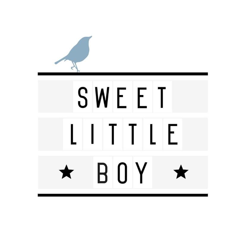 Felicitatiekaarten - Felicitatie-Lightbox, boy, vogel