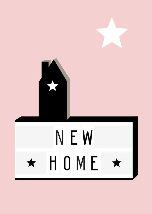Felicitatiekaarten - Felicitatie-Lightbox, huis, ster