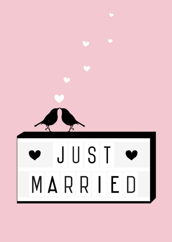 Felicitatiekaarten - Felicitatie - Lightbox, married